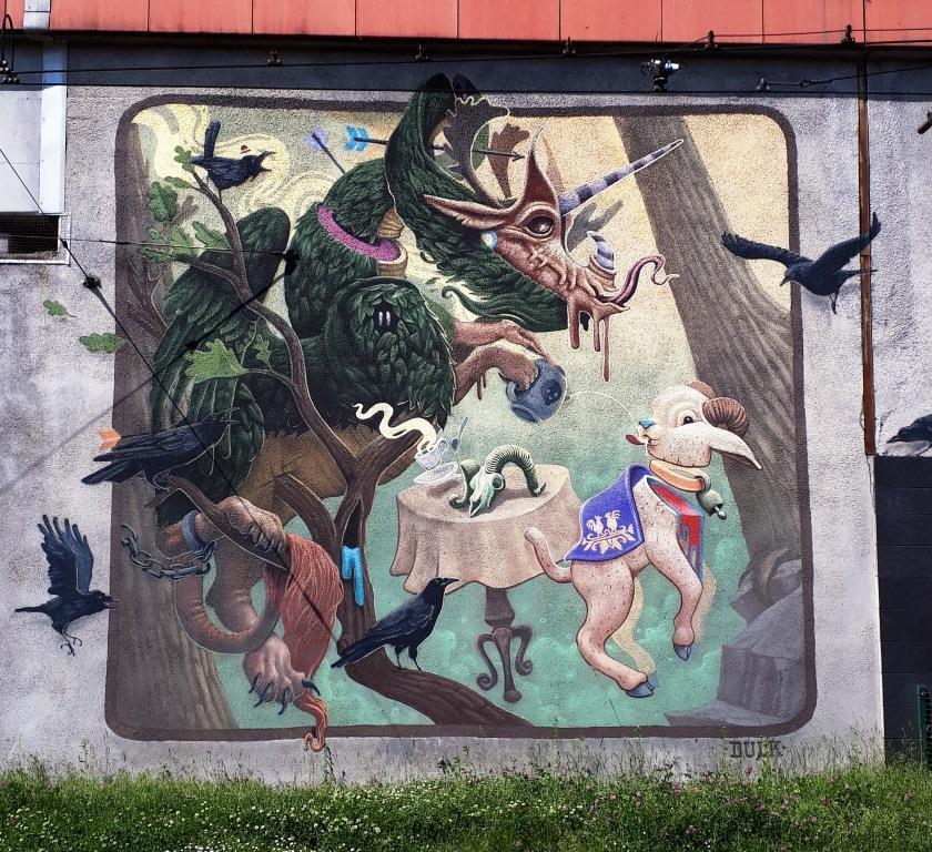 Graffiti na Rondzie Mogilskim w Krakowie